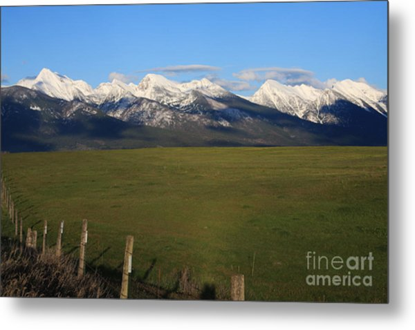Back To Mission Mountains Metal Print