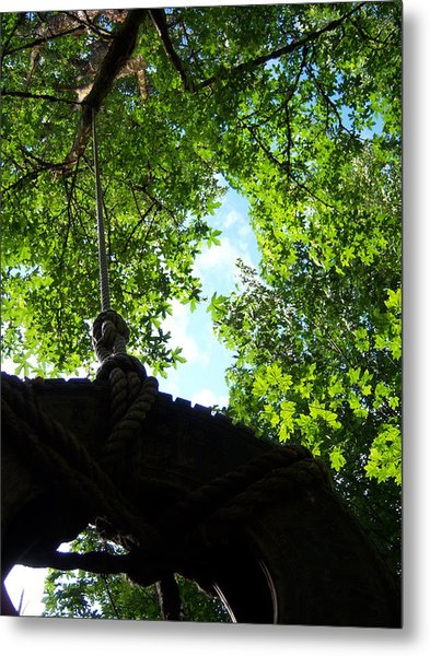 Back Under The Tire Swing Metal Print by Ken Day
