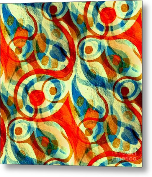 Background Choice Coffee Time Abstract Metal Print