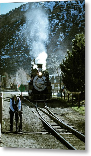 Backing Into The Station Metal Print