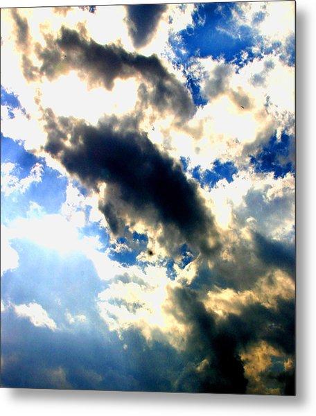 Backlit  Clouds Metal Print