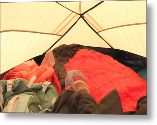 Backpacking Moments Metal Print