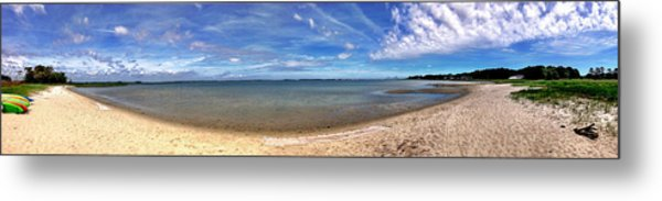 Backwater Bay Pano Metal Print