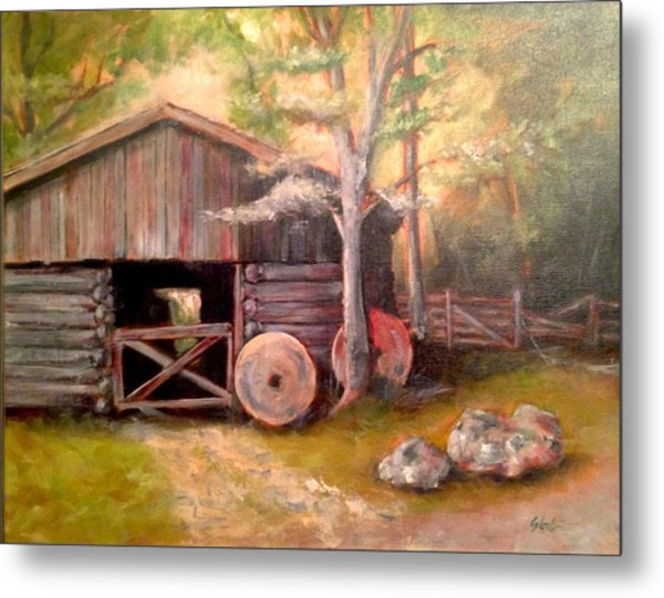 Backwoods Barn Metal Print