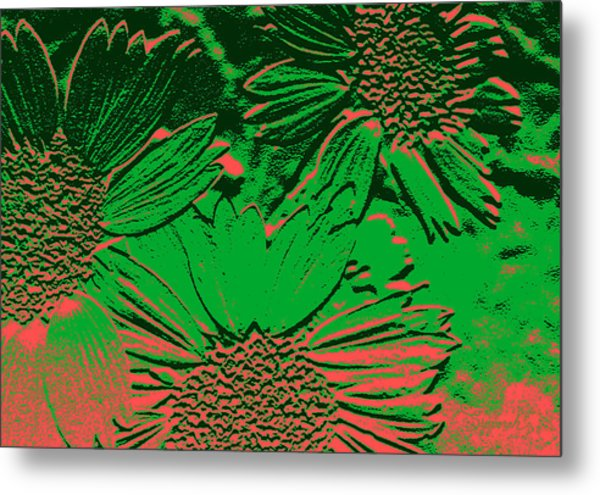 Abstract Flowers 1 Metal Print