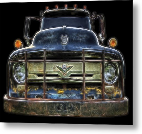 Bad 56 Ford Metal Print