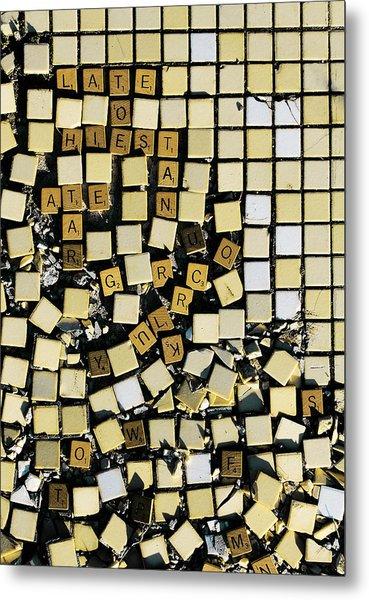 Bad At Scrabble Metal Print