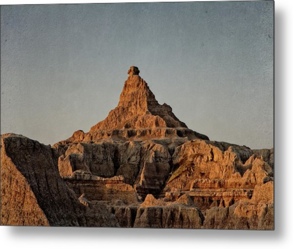 Badlands At Sunrise Metal Print