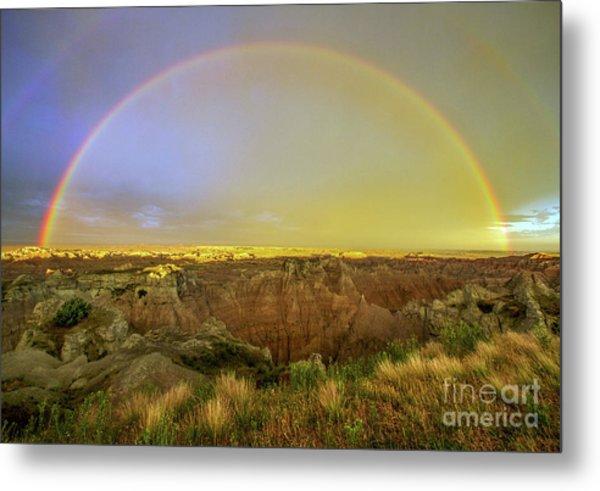 Badlands Rainbow Promise Metal Print