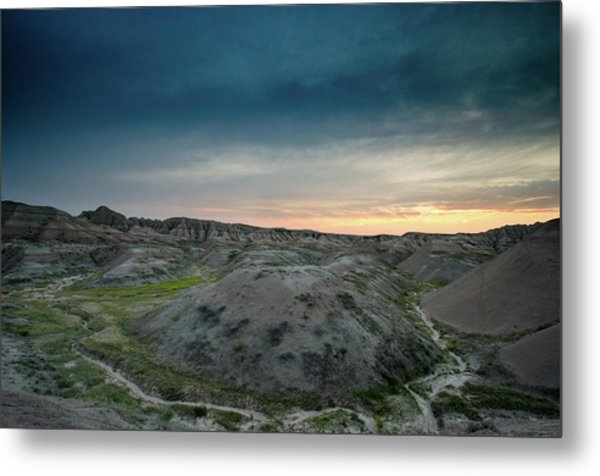 Badlands Sunset Metal Print