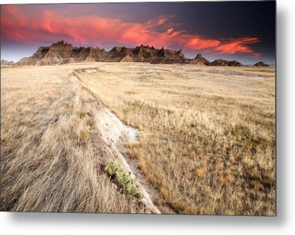 Badlands Sunset Metal Print by Eric Foltz