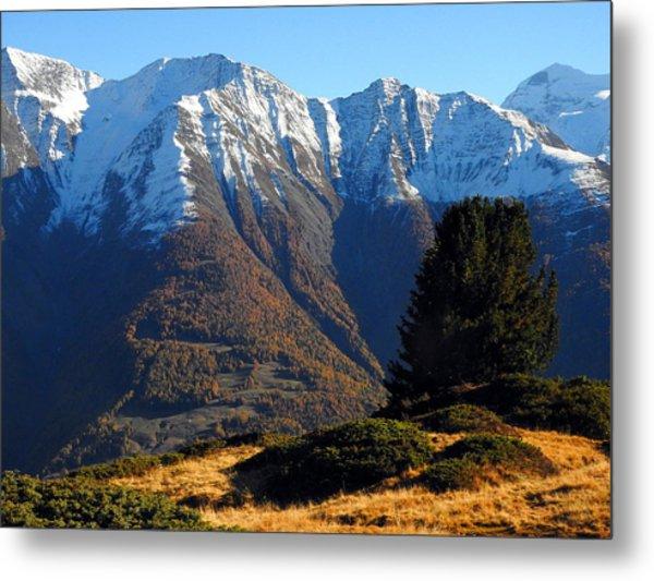 Baettlihorn In Valais, Switzerland Metal Print