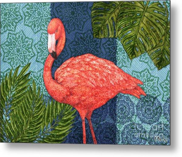 Bahama Flamingo - Horizontal Metal Print