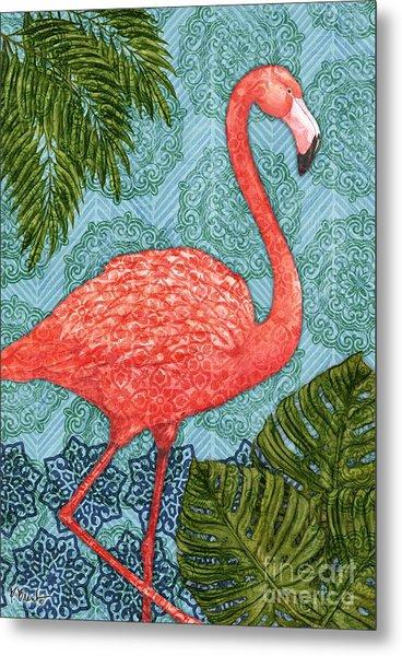 Bahama Flamingo - Vertical Metal Print