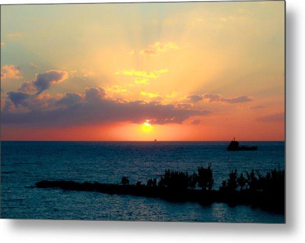 Bahamas Sunset Metal Print