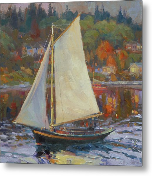 Bainbridge Island Sail Metal Print