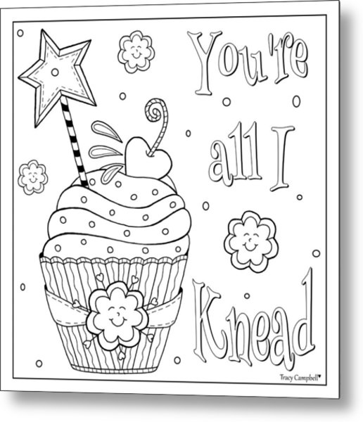 Baked With Love Metal Print