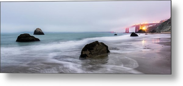 Baker Beach Obscured Metal Print