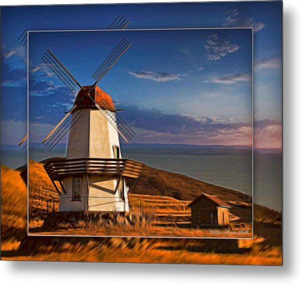 Baker City Windmill_1a Metal Print