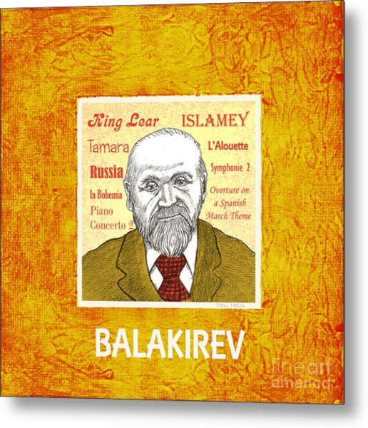 Balakirev Metal Print by Paul Helm
