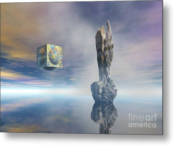 Balance Of Silent Machinery Metal Print