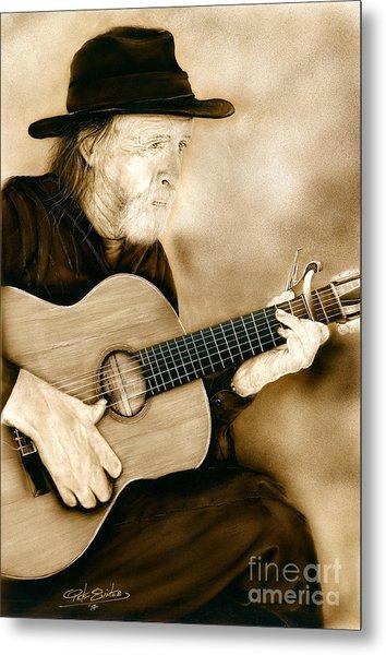 Balboa Park Guitarist Metal Print