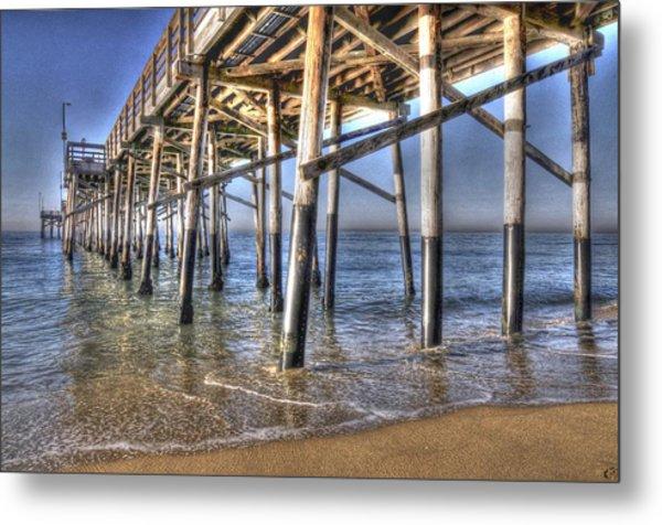 Balboa Pier Pylons Metal Print