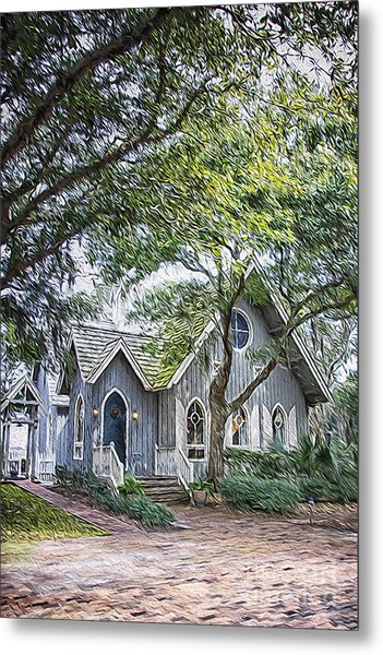 Bald Head Island Chapel Metal Print