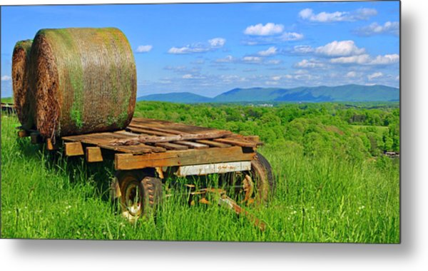 Bales At Rest Metal Print
