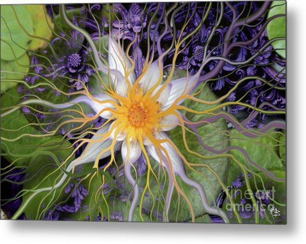 Bali Dream Flower Metal Print