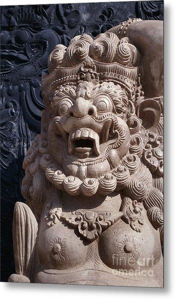 Bali Hindu Temple Sculpture Photograph - Bali Guardian I Metal Print