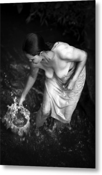 Balinese Bather Metal Print