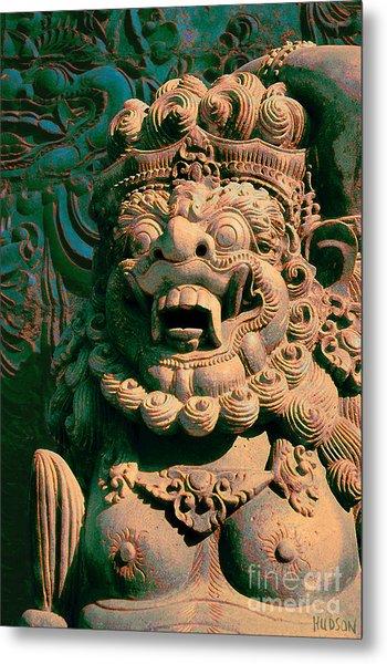 Balinese Hindu Temple Guardian Art Photography - Bali Guardian II Metal Print