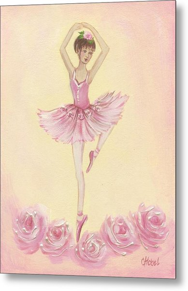 Ballerina Beauty Painting Metal Print