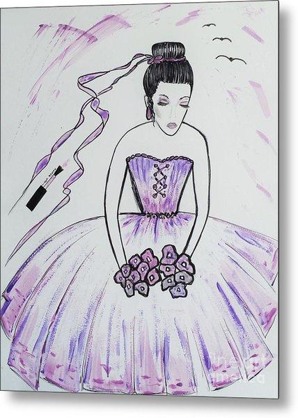 Ballerina Bride  Metal Print