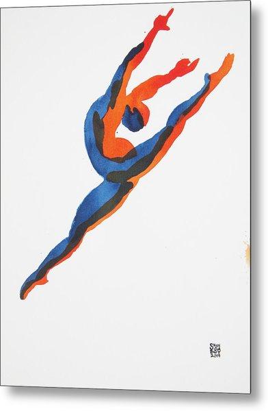 Ballet Dancer 2 Leaping Metal Print