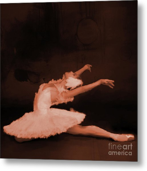 Ballet Dancer In White 01 Metal Print
