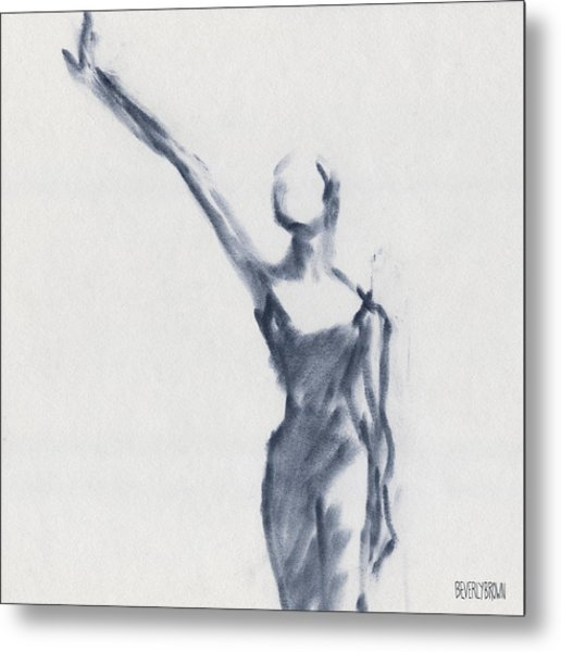 Ballet Sketch One Arm Extended Metal Print by Beverly Brown