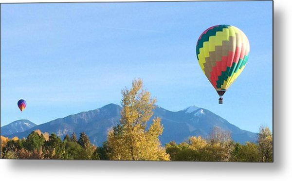 Ballons At Taos Mountain Metal Print