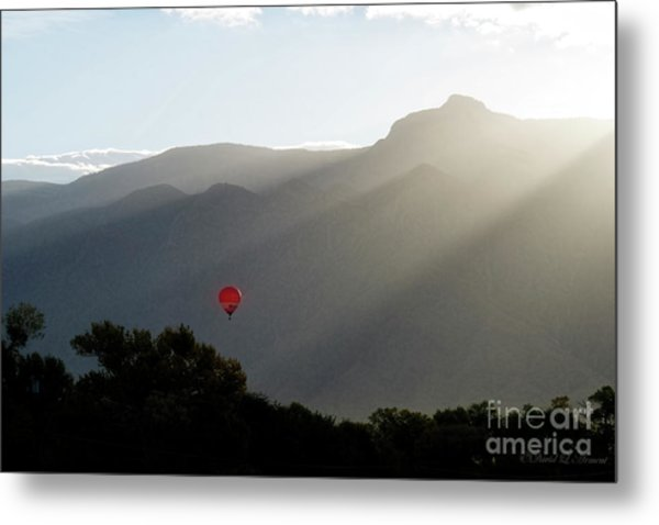 Balloon At Sunrise Metal Print