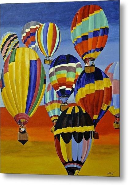 Balloon Expedition Metal Print
