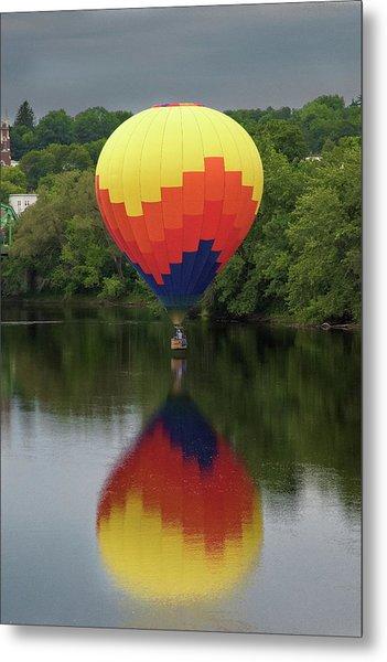 Balloon Reflections Metal Print