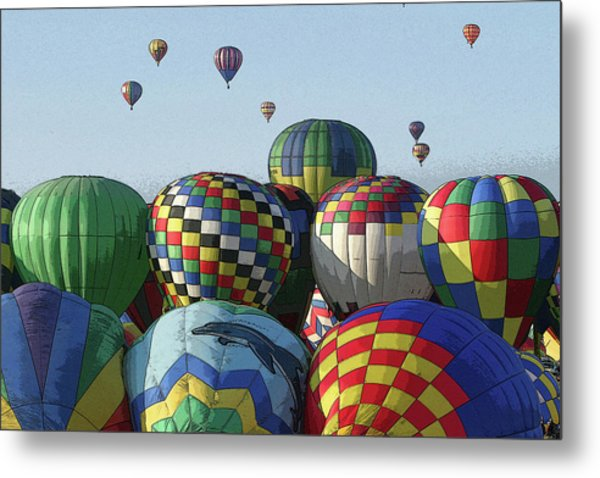 Balloon Traffic Jam Metal Print