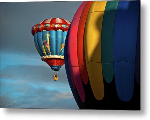 Balloons In Flights Metal Print