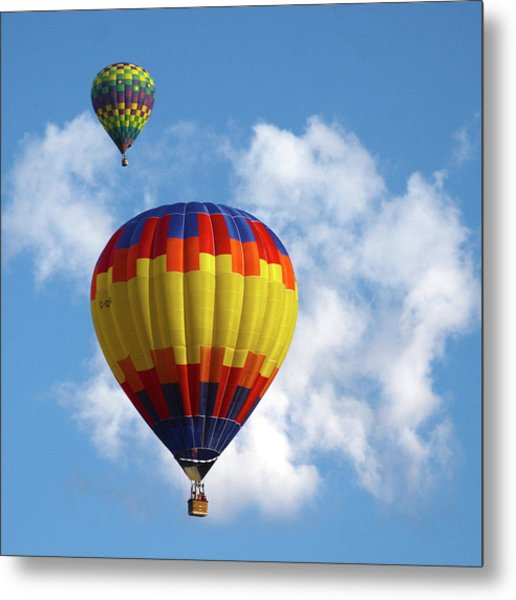 Balloons In The Cloud Metal Print