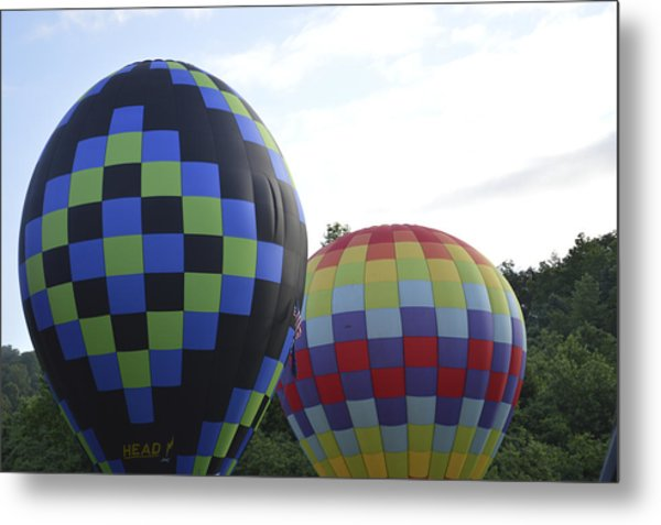 Balloons Waiting For The Weather To Clear Metal Print