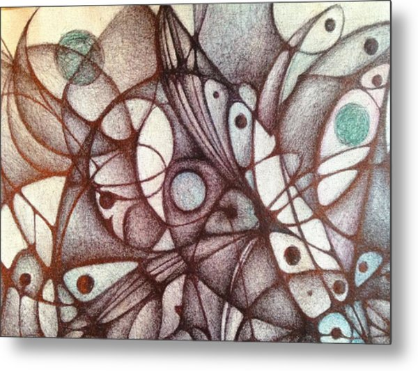 Ballpoint On Canvas  Metal Print