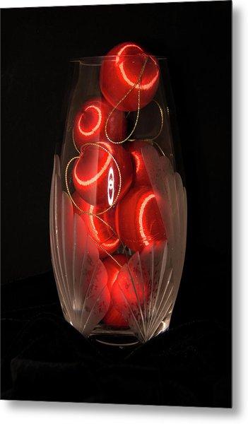 Balls In Crystal Vase Metal Print