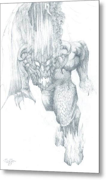 Balrog Sketch Metal Print