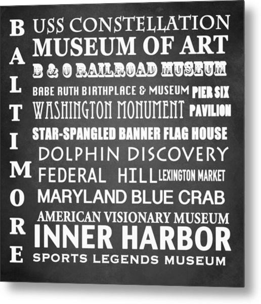 Baltimore Famous Landmarks Metal Print